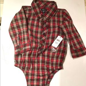 NWT Baby GAP 12-18 Boys holiday dress shirt